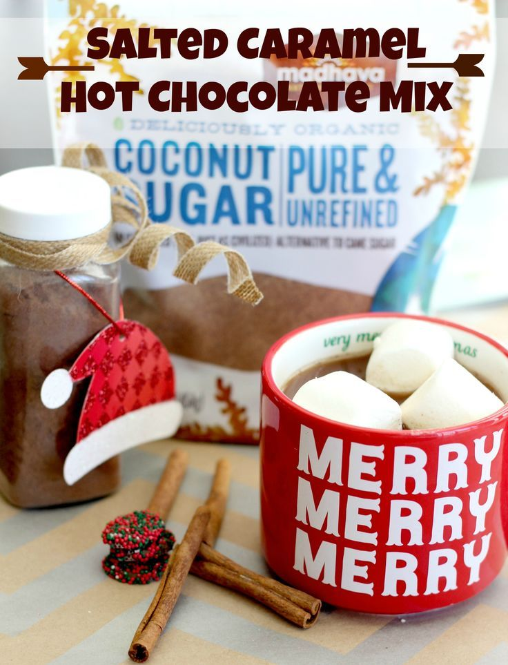 Nothing quite warms you up like a big mug of Salted Caramel Hot Chocolate. This mix is made with Madhava coconut sugar and is divine! I included an extra merry bonus with my Homemade Microwave Caramel recipe. Check it out and enter the Madhava Holiday Giveaway where they are giving away a Nespresso VertuoLine Coffee and Espresso Maker and a supply of Madhava products. #MadSweetHolidays