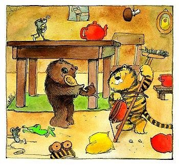 Great A picture from A Letter for Tiger by Janosch arguably the most famous German author artist of children us books