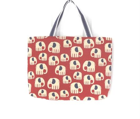 Red and Blue Elephant Carry All Tote Bag