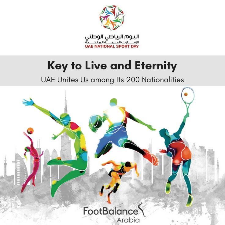 "Raise your voice and put your trust… 'The UAE Unites Us'. Happy UAE National Sports Day! Let's ensure the success of the event and showcase the values of sport to make it a lifestyle.  ارفع صوتك، وضع ثقتك ... ""الإمارات العربية المتحدة توحدنا"". عيد اليوم الرياضي الوطني لدولة الإمارات العربية المتحدة! دعونا نضمن نجاح هذا الحدث ونسلط الضوء على قيمة الرياضة لجعلها أسلوب حياة.  #UAENationalSportsDay#UAE_Unites_Us#Sports#PhysicalActivities#Fitness"