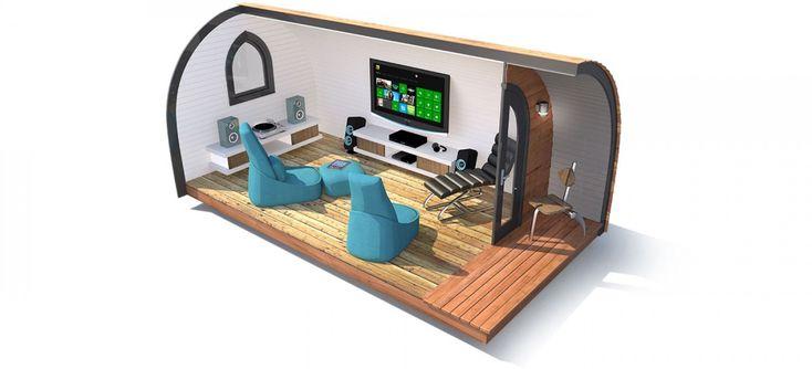 Garden Pods - a TV or media and games room in the garden