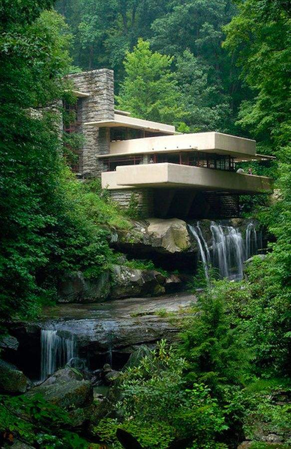 Fallingwater (Kaufmann Residence) in Mill Run, Pennsylvania • architect: Frank Lloyd Wright • Terry Wild Stock Photography
