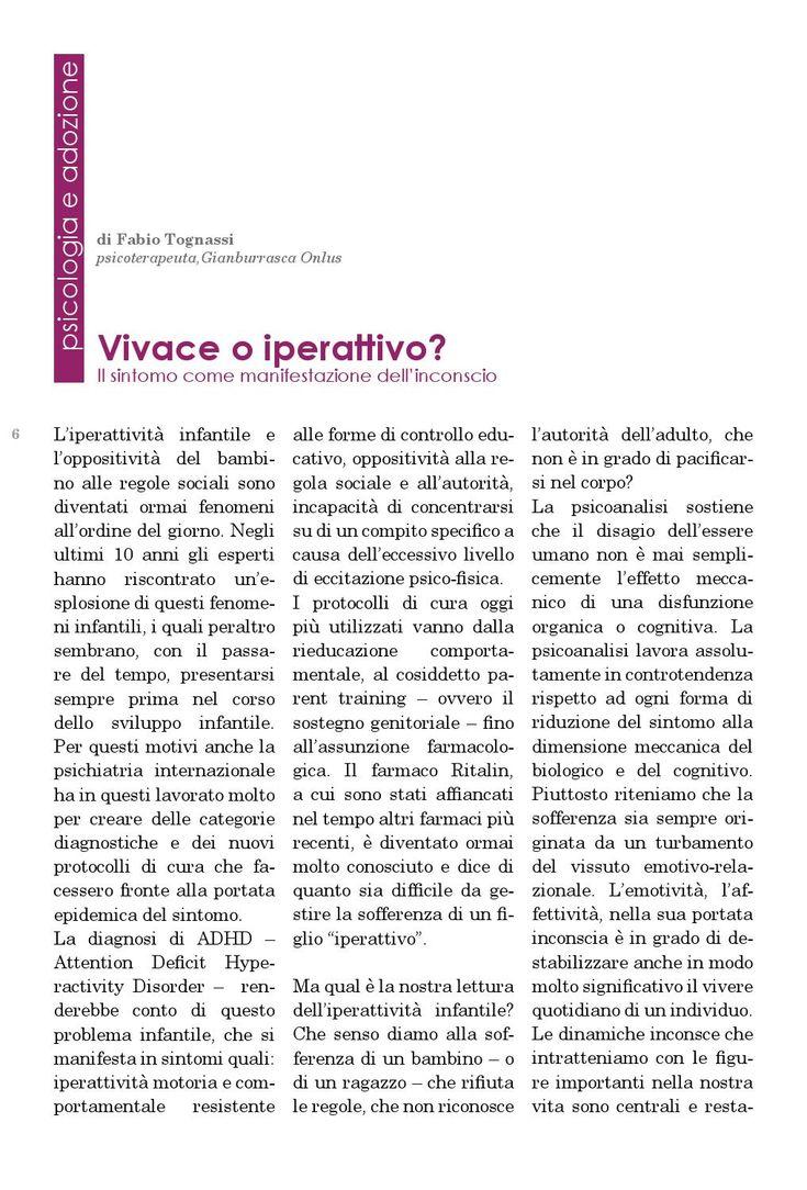 Di Fabio Tognassi Adozione e dintorni - GSD Informa novembre-dicembre 2014