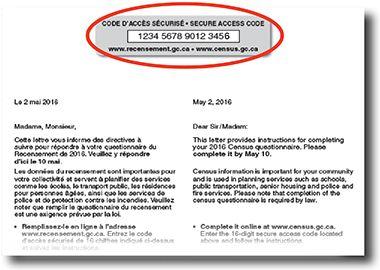 Image de la lettre du recensement