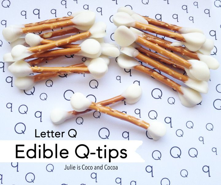 Edible Q-Tips! A perfectly creepy Halloween treat and activity