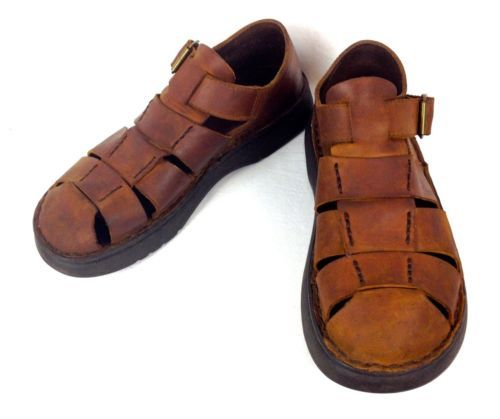 Polo-RALPH-LAUREN-Shoes-LEATHER-Brown-FISHERMAN-Sandals-USA-Made-MENS-10-5-M