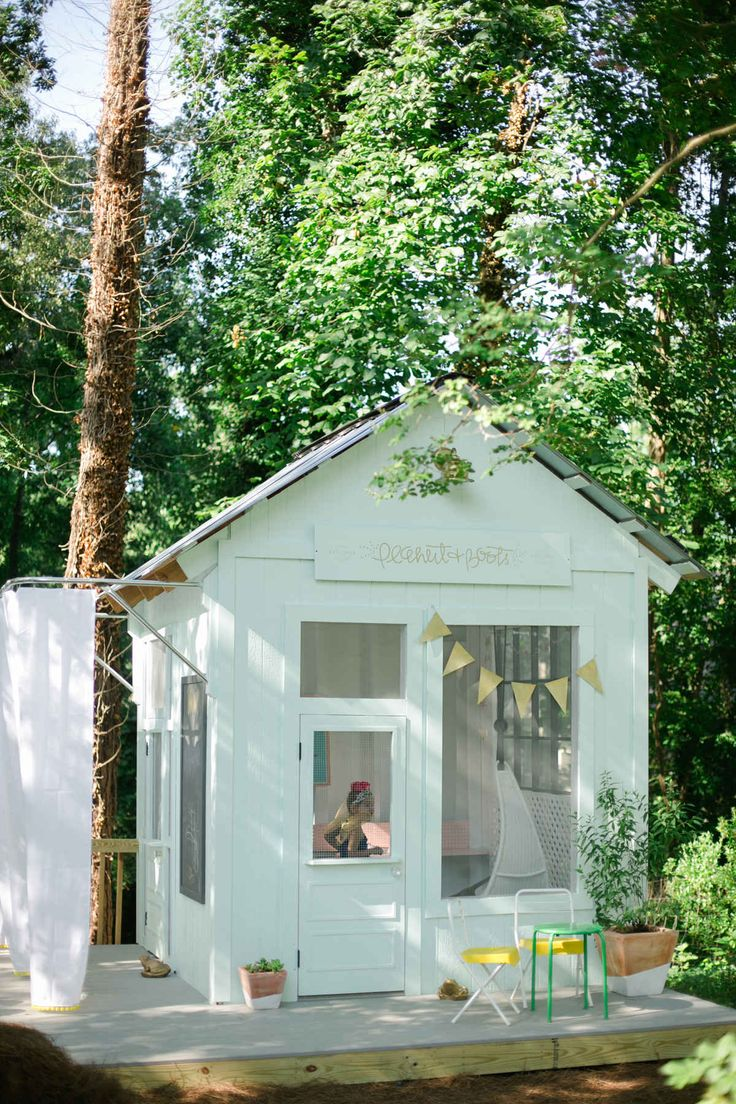 playhouse fun - Convert a shed into a fun playhouse.  I've always thought this would be a fun idea!