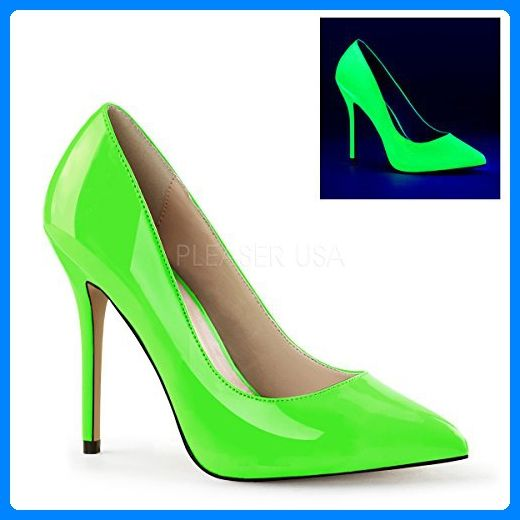 PleaserUSA High Heels Pumps Amuse-20 neon grün Gr.44 - Damen pumps (*Partner-Link)