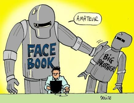 Facebook = Worse than Big Brother. Ironically Mark Zuckerberg, creator and CEO of Facebook, was born in 1984. #bigbrother #1984 #surveillance #security #surveillancestate