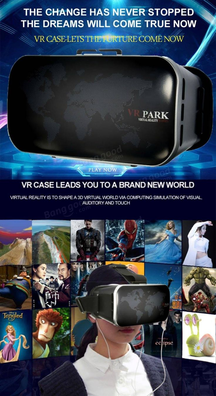 VR PARK V3 3D Glasses Virtual Reality 3D Video Movies Game Glasses For 4.0-6.0Inch Smartphone
