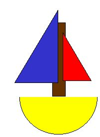 Halves Boat craft: Fractions and art, Love it!