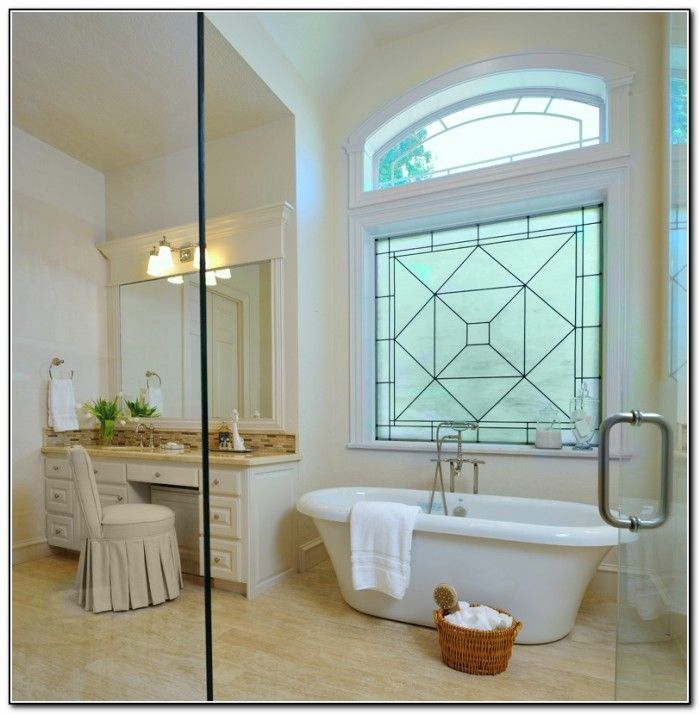 Bathroom window treatments for privacy home decor ideas - Best blinds for bathroom privacy ...
