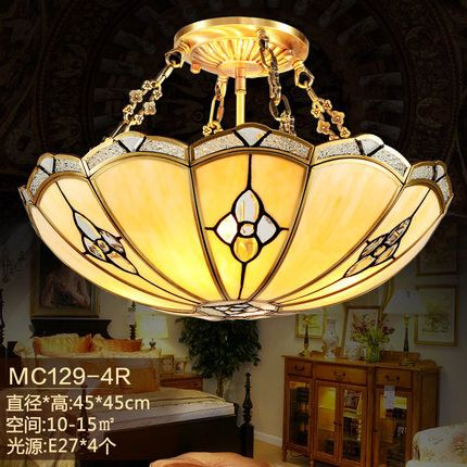 2016 Hot 110V-240V simple retro carved copper ceiling indoor lighting LED ceiling lamp for the study room bedroom bedroom