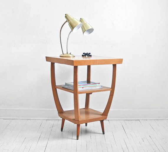 Unique mid-century modern side table: Midcentury Modern, Mid Century Modern, 185 00, Vintage Wood, Modern Coffee, Wood Side Tables, Design Blog