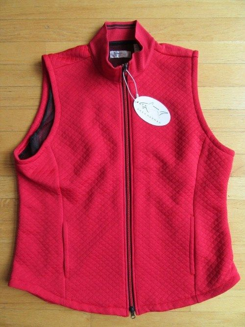 39.55$  Watch here - http://viryh.justgood.pw/vig/item.php?t=xdq2ww18238 - 5Z/NWT WOMENS GREG NORMAN RED TAIL GOLF VEST/QUILTED/MESH LINING/ZIPPER/XL/RARE!