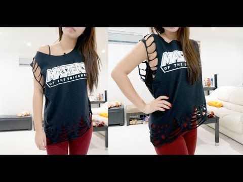 DIY Lace T-Shirt with Slant - Master of the Universe T-Shirt Tutorial