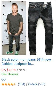 Black color men jeans 2015 new fashion designer.     #jeans #men jeans
