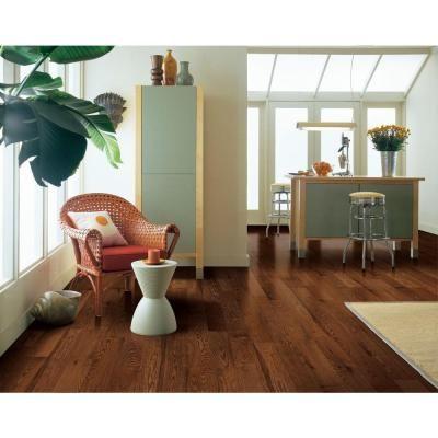Bruce American Originals Brown Earth Oak 3 8 In T X 3 In W X Varying Length Eng Click Lock Hardwood Flooring 22sq Ft Case