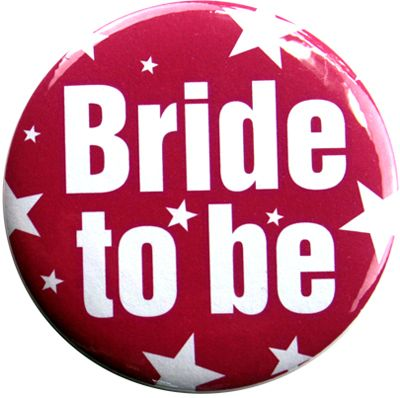 Stars - Bride To Be Badge    A colourful, fun badge for the Bride To Be to wear during the pre-wedding celebrations!    Perfect for hens parties, bridal showers, shopping experiences and more!