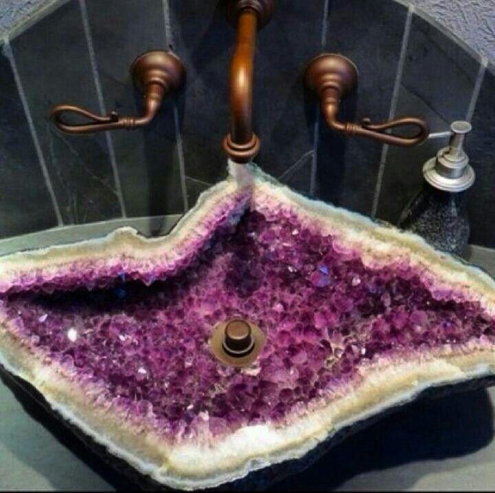 Amethyst Stone Sink : amethyst sink dream homes decor home decor pretty sink dream rooms ...