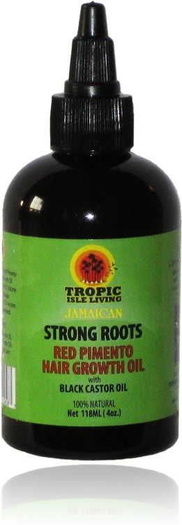 Strong Roots Red Pimento Hair Growth Oil | Tropic Isle Living Strong Roots Red Pimento Hair Growth Oil | Oil Treatment for Alopecia and Thinning Hair
