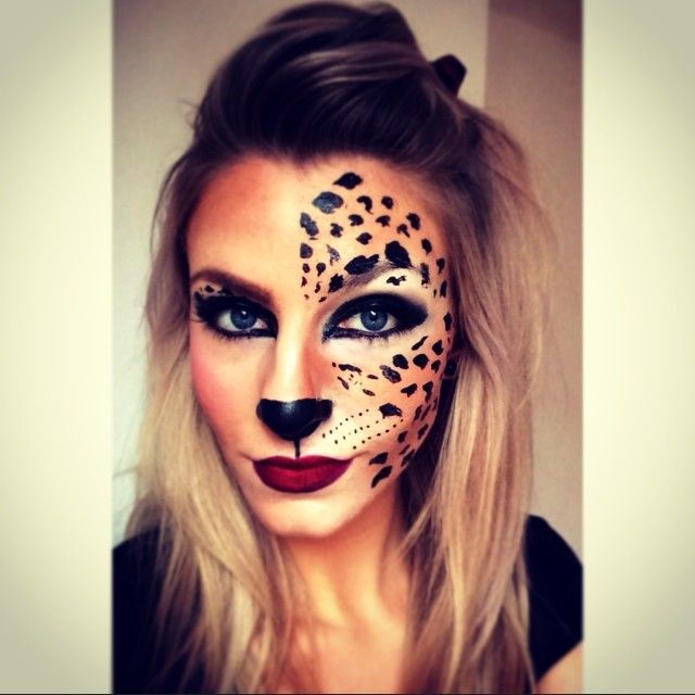 25 best ideas about leopard face paint on pinterest animal makeup tiger halloween costume. Black Bedroom Furniture Sets. Home Design Ideas