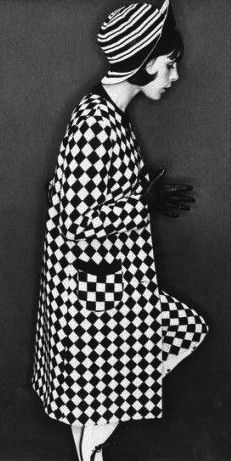 Nicolette Ervin-Rogers- during the 1960s, clothing inspired by optical illusions were a popular day wear trend.