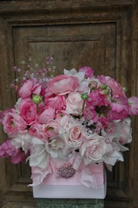 """""""Enchanted Florist""""  I had a bouquet similar to this for my wedding. The rhinestones make it special."""
