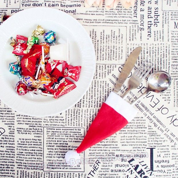 Christmas cap nonwoven cap HH107 knife and fork knife and fork set christmas bag christmas explosion models christmas decorations