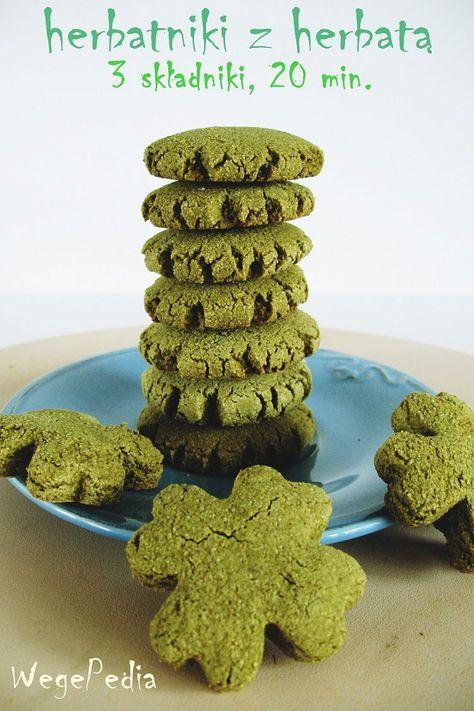 wegańskie herbatniki z herbatą zieloną