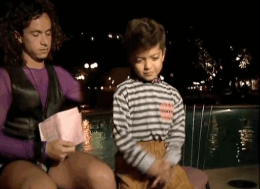 Elvis dance moves: | Here's Pauly Shore Interviewing Bruno Mars At 4 Years Old
