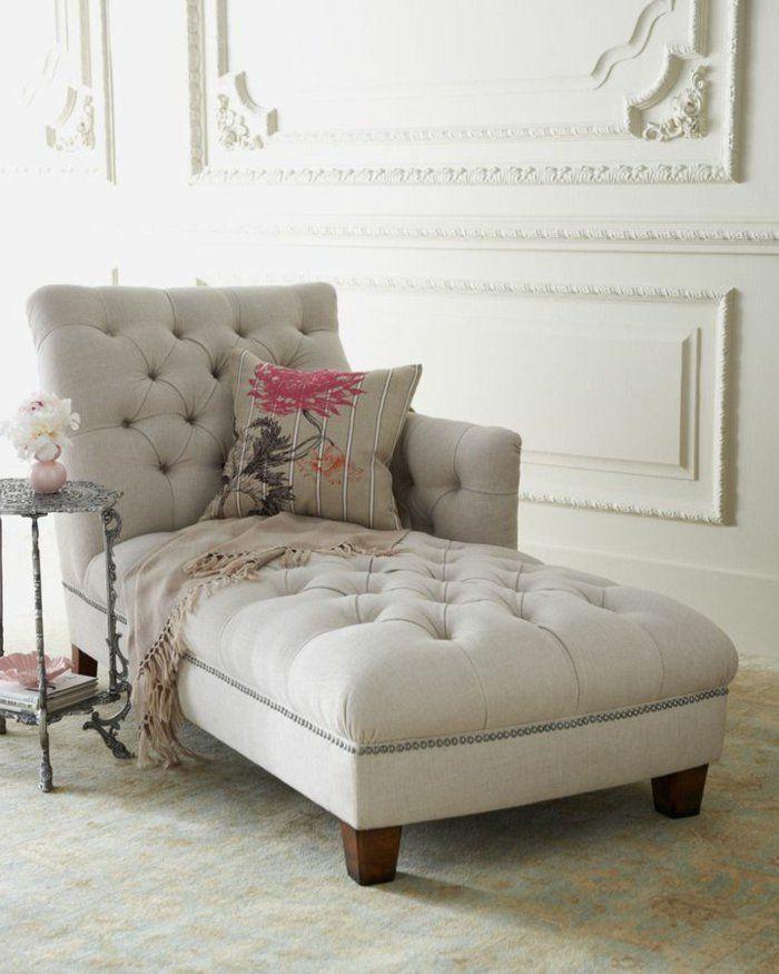 méridienne convenable de couleur gris, canape meridienne design élégant