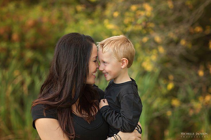 Fall family photos mom and son telford lake family session leduc family photographer