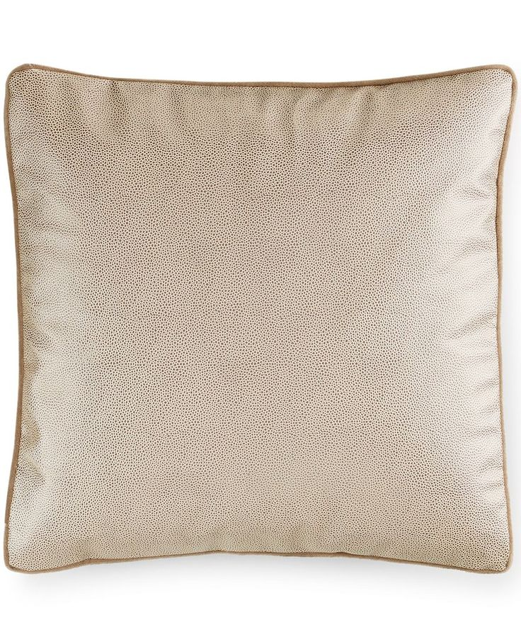 "Hotel Collection Savoy Espresso 18"" Square Decorative Pillow"