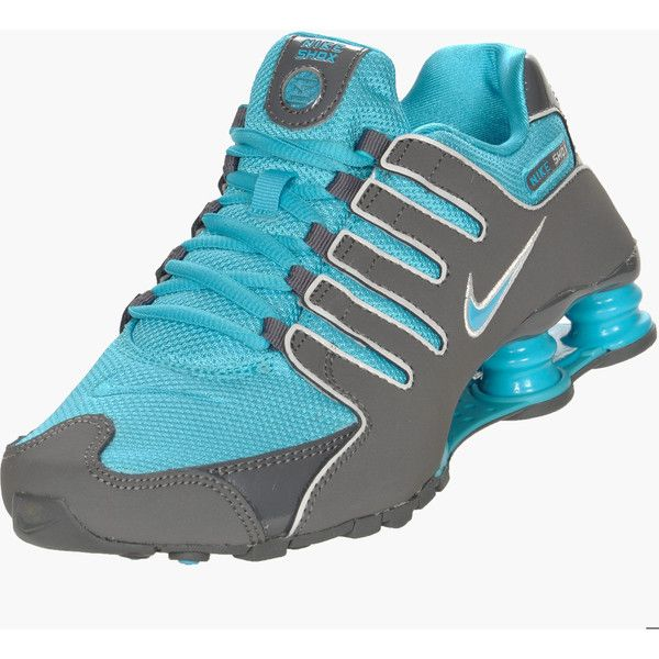 Nike Shox NZ Women's Size 9 Teal Blue Gray Grey Running Sneakers