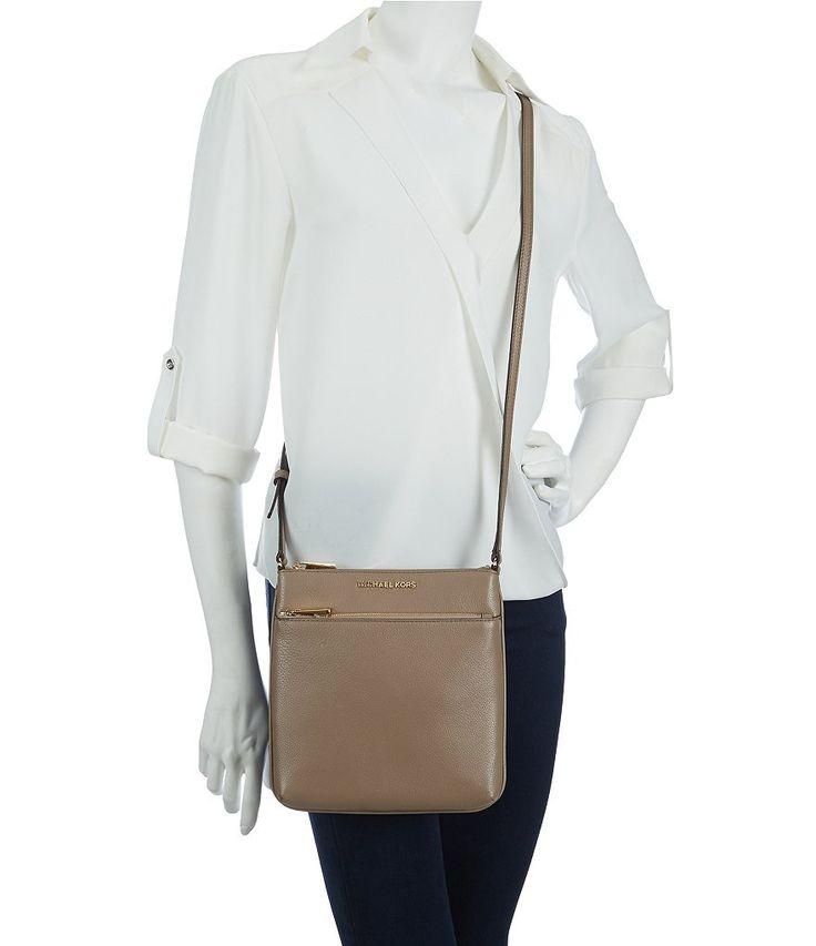 Dark Dune:MICHAEL Michael Kors Riley Small Flat Cross-Body Bag