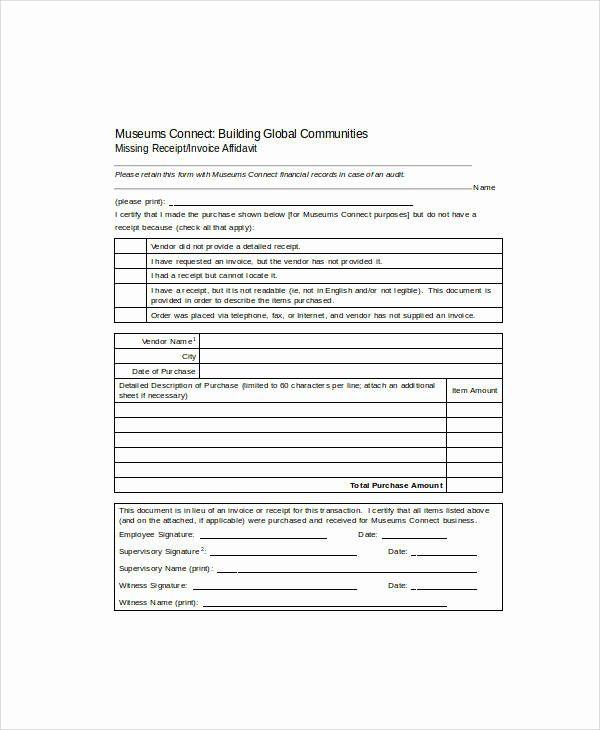 Missing Receipt Form Template Fresh 16 Sample Receipt Forms In Doc In 2020 Receipt Templates Contract Template