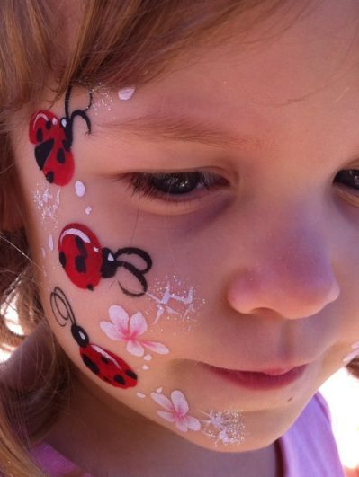 Ladybug Face Paint Childrenspartiesnyc