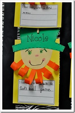 St. Patrick's DayWriting Center, Writing Prompts, St Patricks Day, Writing Ideas, Classroom Ideas, Writing Activities, First Grade, Crafts, Construction Paper