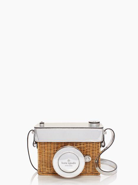 Kate Spade New York 'Grand Tour' Wicker Camera Shoulder Bag 85