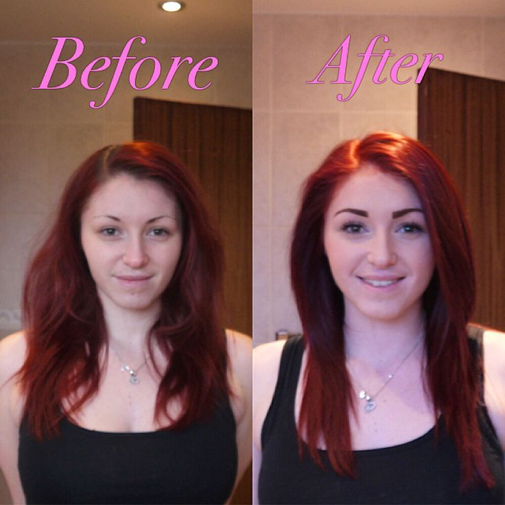 Just used my Vidal Sassoon Salonist in Medium Intense Red. Before and after