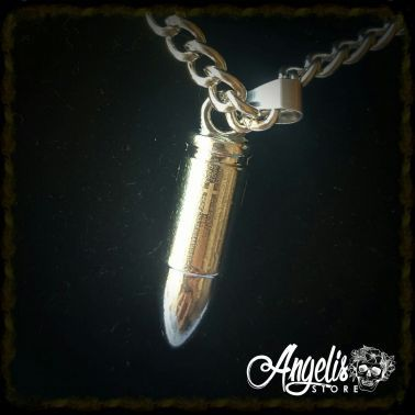 Inscripted Silver Bullet Necklace