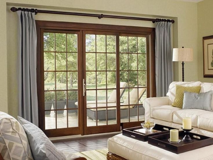 Triple Sliding Door Curtains Google Search Interior