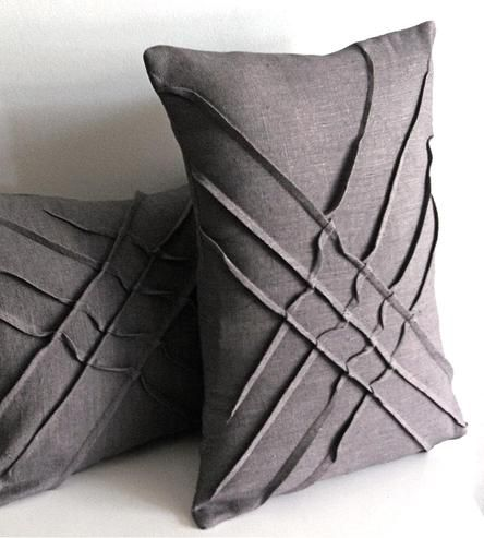 X-Pleat Linen Accent Pillow by yorktown road on Scoutmob Shoppe