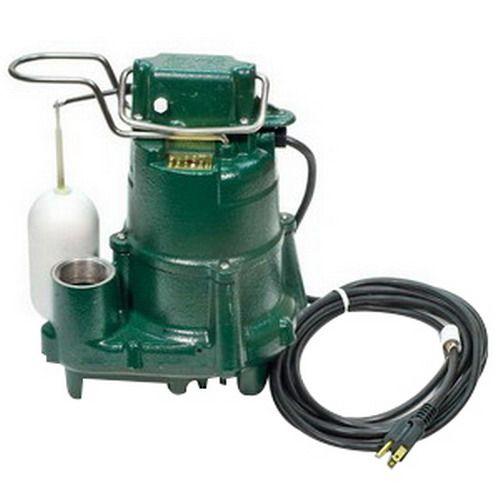 Zoeller M98 Auto Cast Iron Submersible Sump/Effluent Pump 98-0001 (1/2HP, 115V)