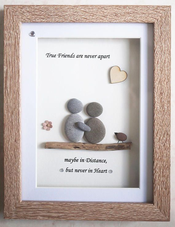 Pebble Art framed Picture Friends True Friends are never