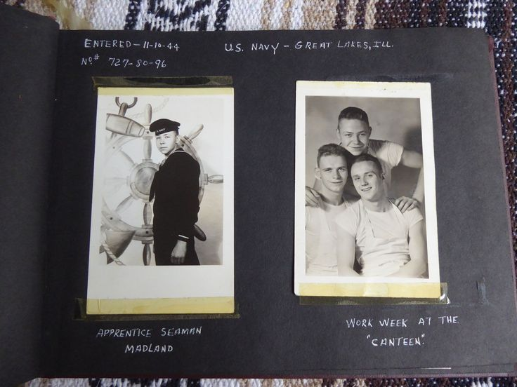 Photo Album WWII of Navy Vet - Some Pictures and Harry Truman Thank you Letter | eBay