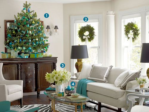 15 Ways To Re Deck The Halls With Designer Eddie Ross. Christmas Living  RoomsChristmas RoomBlue ... Part 84