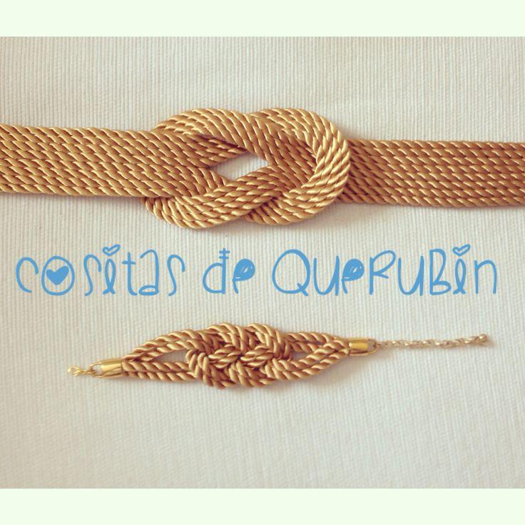 Cinturón nudo y brazalete dorado. Envios a toda España. Consultas en cositasdequerubin@gmail.com