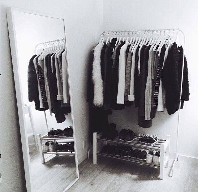 My closet looks almost like this hahah just with blues added haha and a few pink/red stuff lol